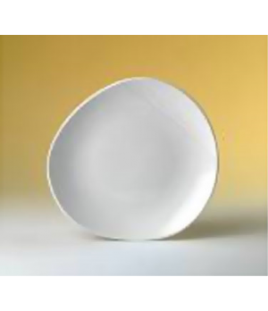 "Plate, 10"" dia., round, Distinction, Organic, Organics White (USA stock item) (m"