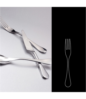 "Cake/Cocktail Fork, 6"", 3-prong, 18/10 stainless steel, WNK, Java (USA stock ite"