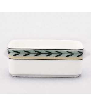 "Sugar Tray, 3-7/8"", 7-1/2 oz., rectangular, premium porcelain, French Garden-Dam"