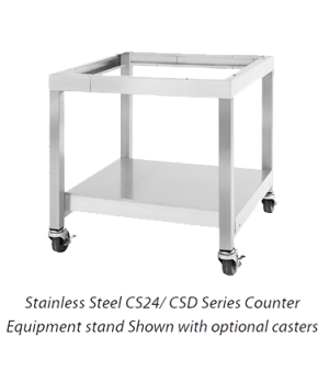 "Designer Series Equipment Stand, 24"" W x 25"" H, open base with undershelf, stain"