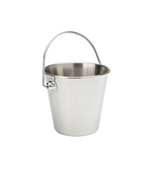 "Mini Pail, 11oz (325mL) 3.5"" diameter (9cm), with handle, stainless steel, Serve"