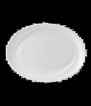 "Solar Dish, 14"", oval, dishwasher safe, bone china, white (priced per case, pack"