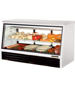 Counter-Height Deli Case, see-thru, stainless steel top, Low-E glass front & (3)