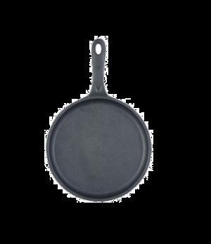 "Thermalloy® Pan, 10"" dia. x 3/4"", preseasoned, ergonomic handle with thumb rest"