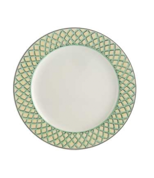 "Plate, 10-5/8"", flat, premium porcelain, French Garden-Choisy (Special Order)"