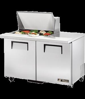 """Mega Top Sandwich/Salad Unit, (12) 1/6 size (4""""D) poly pans, stainless steel ins"""