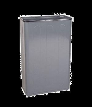 "Steel Wastebasket, 11"" L x 21"" W x 30"" H, 96 quart capacity, open top, gray, UL,"