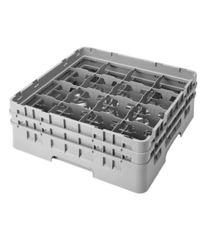 "Camrack® Glass Rack, with 2 extenders, full size, 16 compartments, 4-3/8"" max. d"