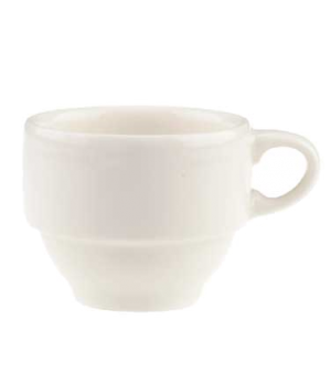 Cup #8, 2-3/4 oz., stackable, premium porcelain, Dune