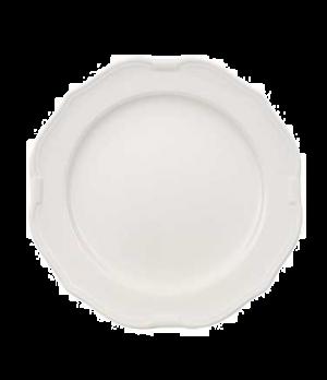 """Plate, 11-3/8"""", flat, premium porcelain, La Scala (DE Stock)"""