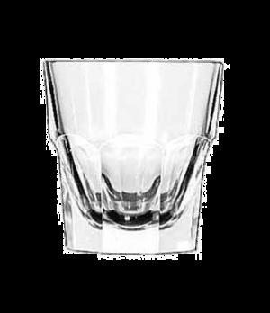 "Rocks Glass, 7 oz., tall, DuraTuff®, GIBRALTAR®, (H 3-3/8""; T 3-1/4""; B 2-1/2"";"