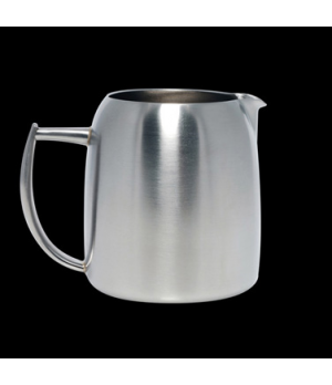 Milk Jug, 12 oz., without cover, stainless steel, La Tavola, Café and Club Hollo