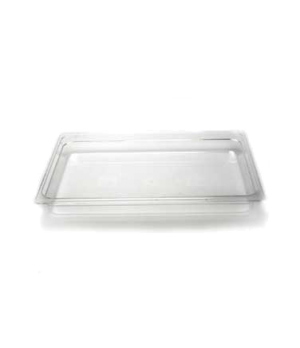 "Camwear® Food Pan, plastic, full size, 2-1/2"" deep, polycarbonate, clear, NSF"