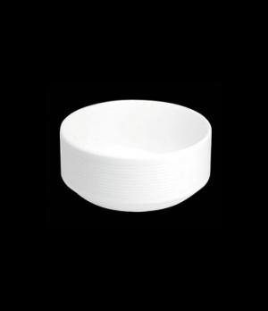 "Bowl, 8 oz., 4"" dia. x 1-3/4""H, round, stackable, porcelain, Tria, Wish (minimum"