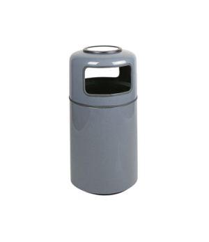 "Ash/Trash Receptacle, 20 gallon, 18"" dia. x 37"" H, covered top, fiberglass, reta"