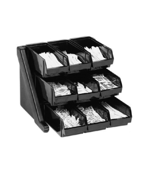 "Organizer Rack, with 9 bins, 20-1/8""L x 21-3/8""D x 14-1/4""H, can be wall-mounted"