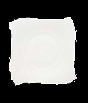 "Plate, 10-5/8"" x 10-5/8"", flat, premium bone porcelain, New Wave Premium (Specia"