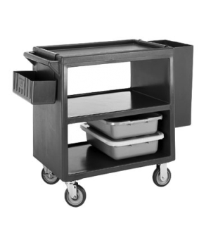 "Service Cart, open design, three shelves, shelf size approximately 21"" x 32"", po"