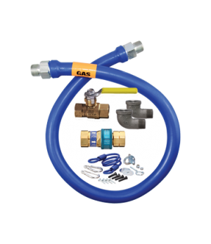 """Blue Hose™ Moveable Gas Connector Kit, 1"""" inside dia., 36"""" long, covered with st"""
