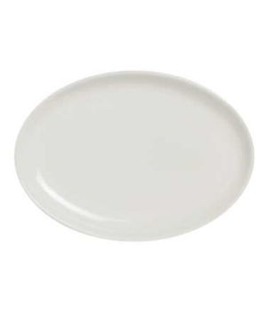 "Plate, 8"" x 5-1/2"", small, oval, coupe, porcelain, Varick Alpha-Ceram (USA stock"