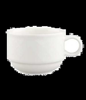 Cup, 6 oz., stackable, premium porcelain, Bella (DE Stock)
