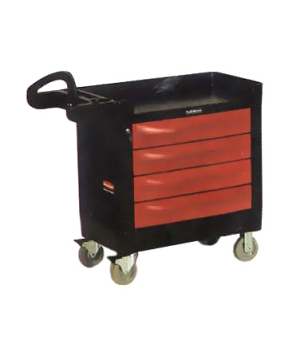 "TradeMaster™ Cart, 16"" x 30"" drawer size, four drawer, 500 lb. total capacity, a"