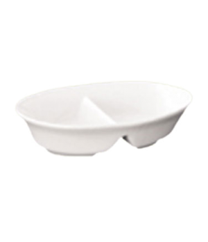 "Dish, 18 oz. (532ml), 8"" (20 cm), round, divided, Le Buffet, white"