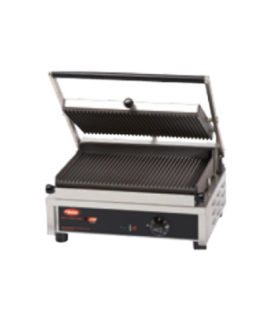 "Multi Contact Grill, 14"", single, grooved top & bottom plate, adjustable thermos"