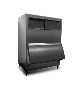 Ice Bin, hinged bottom door & top view windows, approximately 1275-lb ice storag