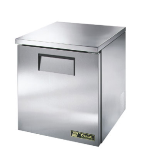 Low Profile Undercounter Refrigerator, 33-38° F, (2) shelves, stainless steel to