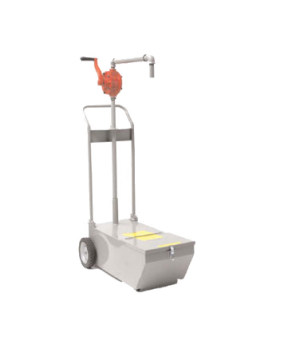 "Shortening Disposal Unit, 90 pound capacity, 9-5/8"" drain height, manual pump, 7"