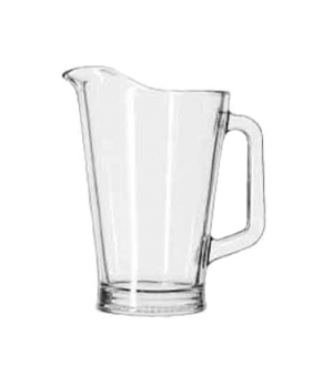 "Beer Pitcher, 60 oz., glass, (H 9-1/4""; T 5-3/4""; B 4-1/8""; D 7-/8"") (6 each per"