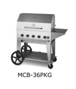 "Outdoor Charbroiler, LP gas, 34"" x21"" grill area, 5 burners, 304 stainless steel"