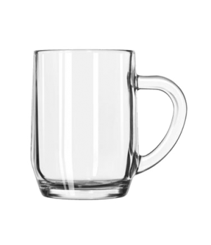"All-Purpose Glass Mug, 10 oz., (H 4-1/8""; T 2-7/8""; B 2-3/8""; D 4-3/8"")"