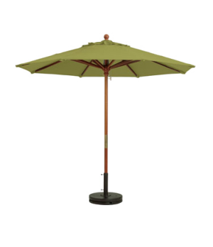 "Market Umbrella, 7 ft, 1-1/2"" wooden pole, Outdura fabric, pesto"