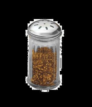 Shaker Dispenser Jar Only, 12 oz., heavy-duty, tapered bases, nestable, odorless