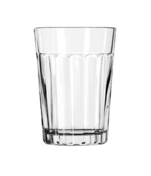 "Tumbler, 8-1/2 oz., glass, paneled, DuraTuff®, (H 4-1/8""; T 3""; B 2-1/4""; D 3"")"
