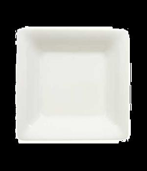 "Plate, 8-2/3"" x 8-5/8"", 32 oz., deep, premium porcelain, Pi Carre"