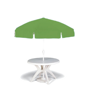Umbrella, 7-1/2 ft. push up, apple green