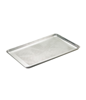 "Thermalloy® Bun Pan, full size, 18"" x 26"" x 1"" deep, perforated, rounded corner"
