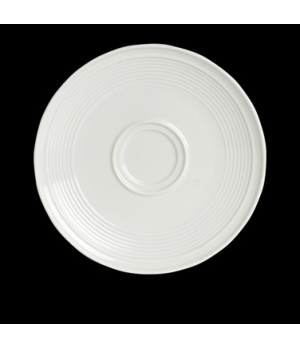 "Saucer, 6 -1/2"", coupe, (fits 6300P122, 6300P128 And 6300P129), porcelain, Rene"