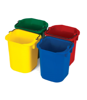 Disinfecting Pails, 5 qt., set of 4 (yellow, green, red & blue)