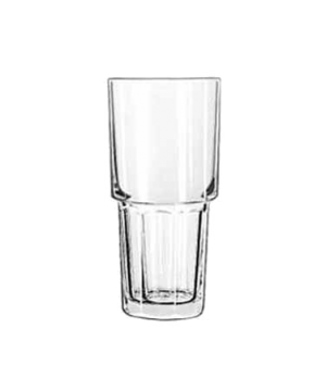 "Cooler Glass, 16 oz., stackable, DuraTuff®, GIBRALTAR®, (H 6-5/8""; T 3-1/4""; B 2"