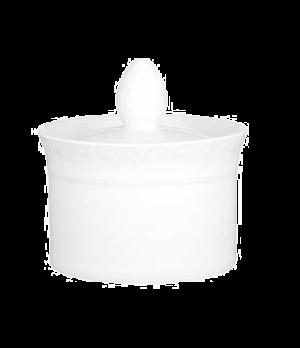 Sugar Bowl, 6 oz., with cover, premium porcelain, Millenia Bianca (DE Stock)