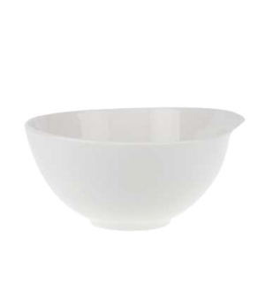 "Salad Bowl, 8-1/4"", 57 oz., premium porcelain, Flow"