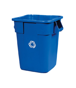 "Square BRUTE® Recycling Container, without lid, with ""We Recycle"" symbol, 40 gal"