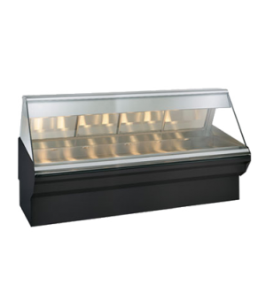 "Halo Heat® Heated Display Case System, 96"" L, full-service, lift-up flat glass f"