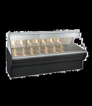 "Halo Heat® Heated Display Case System, 96"" L, full-service, lift-up flat glass f"