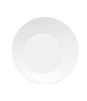 "Ethereal Dinner Plate, 12"" dia., round, dishwasher safe, bone china, white"