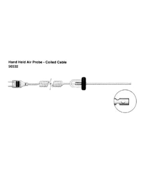 "Air Temperature Probe, hand held, 4"" (102mm) shaft length, 1/8"" (3.2mm) shaft an"
